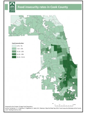 Food Insecurity Rates, courtesy of GCFD